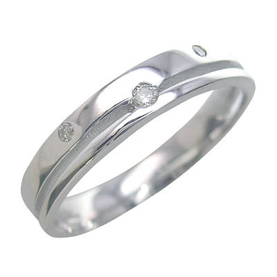 ( Brand Jewelry me. ) ホワイトゴールド ダイヤモンド ペアリング