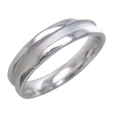 メンズリング K18ホワイトゴールド 結婚指輪・マリッジリング・ペアリング