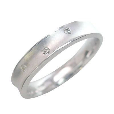 K18ホワイトゴールド 結婚指輪・マリッジリング・ペアリング 末広 スーパーSALE