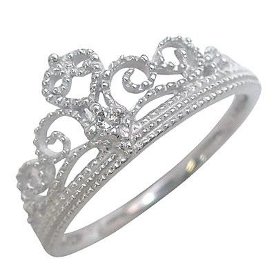 ティアラ ティアラモチーフ K18ホワイトゴールドダイヤモンドリング