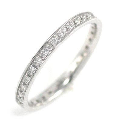 ( Brand Jewelry me. ) K18ホワイトゴールド ダイヤモンドフルエタニティリング