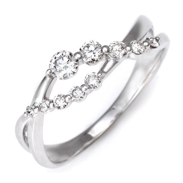 スイート エタニティ ダイヤモンド リング ダイヤモンド 指輪 鑑別書付き 結婚 10周年記念