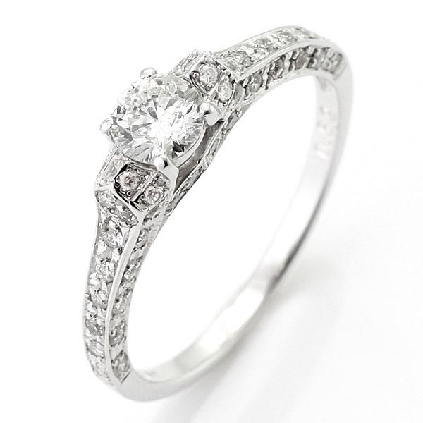 ダイヤモンド リング ダイヤモンドリング 指輪 ホワイトゴールド 鑑別書付き
