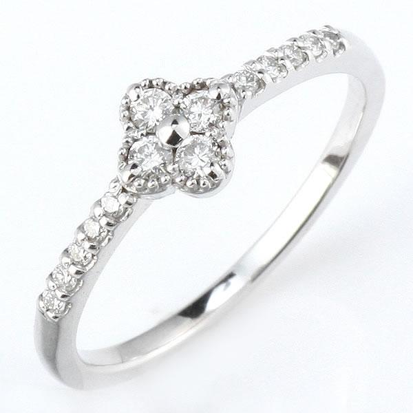 ダイヤモンド リング ダイヤモンドリング 指輪 ホワイトゴールド 鑑別書付き 【DEAL】