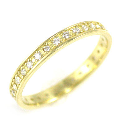( Brand Jewelry me. ) K18イエローゴールド ダイヤモンドフルエタニティリング