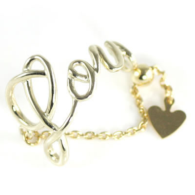 K10イエローゴールド メッセージリング(Love) 【DEAL】