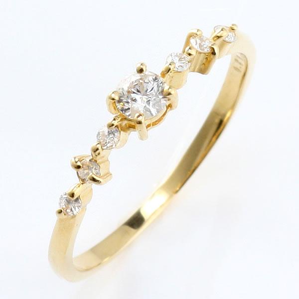 ダイヤモンド リング ダイヤモンドリング 指輪 イエローゴールド 鑑別書付き 末広 スーパーSALE【今だけ代引手数料無料】