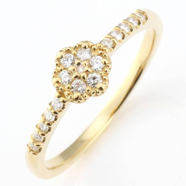 ダイヤモンド リング ダイヤモンドリング 指輪 イエローゴールド 鑑別書付き