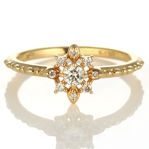 ダイヤモンド リング ダイヤモンドリング 指輪 イエローゴールド