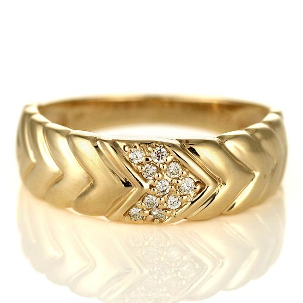 指輪 ダイヤモンド リング 10金 金 K10 イエローゴールド 人気 おすすめ レディース 女性【DEAL】