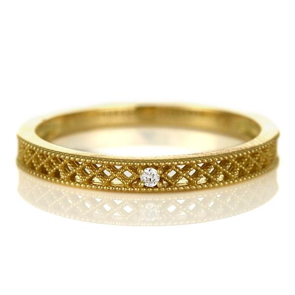 ピンキーリング 指輪 ダイヤモンド 18金 金 K18 18k イエローゴールド 一粒 人気 おすすめ レディース 女性【DEAL】 末広 スーパーSALE【今だけ代引手数料無料】
