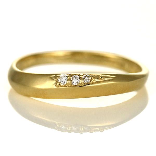 婚約指輪 エンゲージリング ダイヤモンド 18金 金 K18 18k イエローゴールド スリーストーン 人気 おすすめ レディース 女性