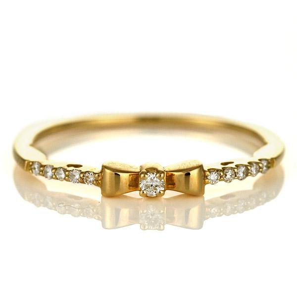 指輪 リング 18金 金 K18 18k イエローゴールド リボン 人気 おすすめ レディース 女性【DEAL】