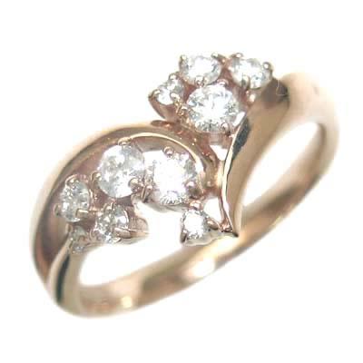 スイート エタニティ ダイヤモンド 10 個 K18ピンクゴールドダイヤモンドリング 結婚 10周年記念