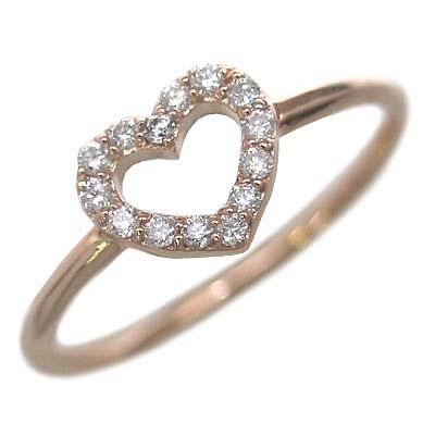 ( Brand Jewelry me. ) K10ピンクゴールド ダイヤモンドリング