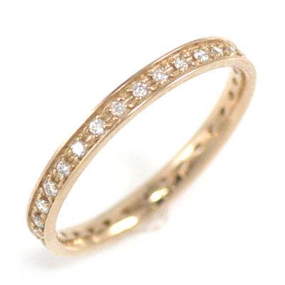 ( Brand Jewelry me. ) K18ピンクゴールド ダイヤモンドフルエタニティリング 末広 スーパーSALE【今だけ代引手数料無料】