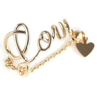 K10ピンクゴールド メッセージリング(Love) 【DEAL】
