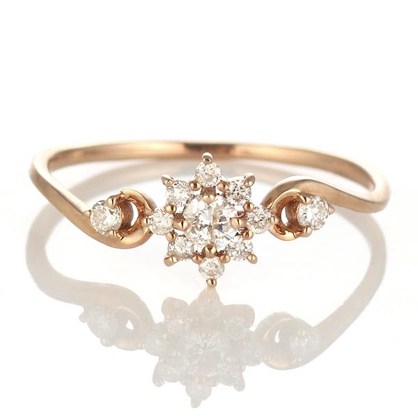 ダイヤモンド リング ダイヤモンドリング 指輪 ピンクゴールド