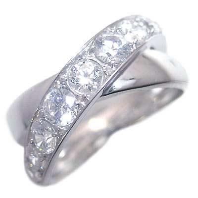 ダイヤモンド ダイヤ ( 4月誕生石 ) プラチナダイヤモンドリング