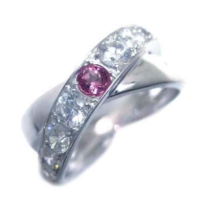 10月誕生石 ピンクトルマリン プラチナピンクトルマリン・ダイヤモンドリング