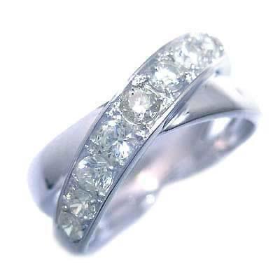 ダイヤモンド ダイヤ ( 4月誕生石 ) プラチナダイヤモンドリング 末広 スーパーSALE