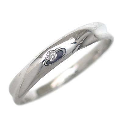 プラチナ900 結婚指輪・マリッジリング・ペアリング(ダイヤモンド入り)