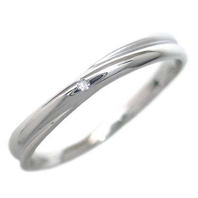 プラチナ900 結婚指輪・マリッジリング・ペアリング(ダイヤモンド入り) 末広 スーパーSALE