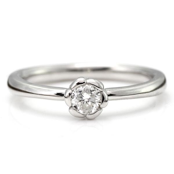 プラチナ フラワー プラチナ ダイヤモンド リング プラチナ ダイヤモンドリング プラチナ 指輪 プラチナ 花びら