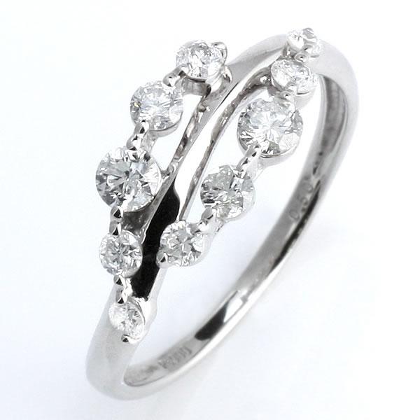 スイート エタニティダイヤモンド リング プラチナ ダイヤモンド 指輪 鑑別書付き 結婚 10周年記念