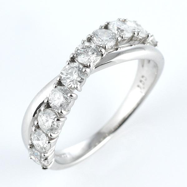 ダイヤモンドリング 1ct 1カラット プラチナ エタニティリング 10石 10粒 結婚記念 結婚10周年 退職記念 サプライズ ギフト プレゼント