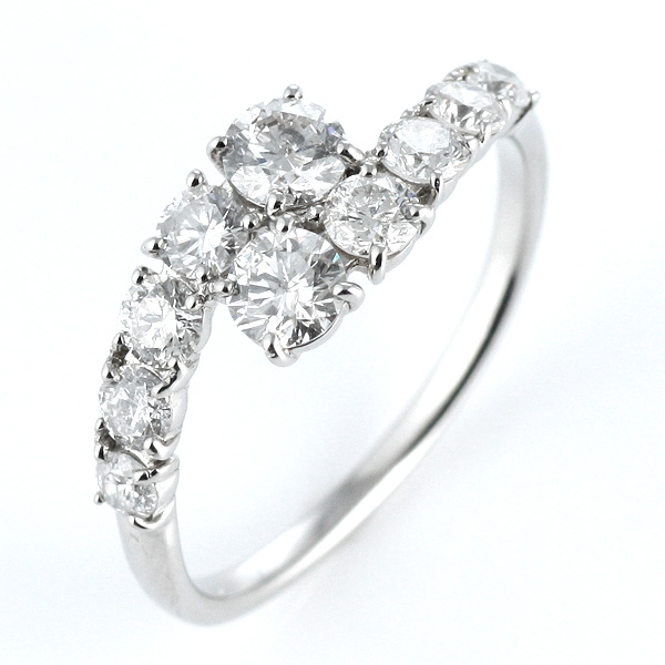 1カラット ダイヤモンド プラチナ エタニティ リング