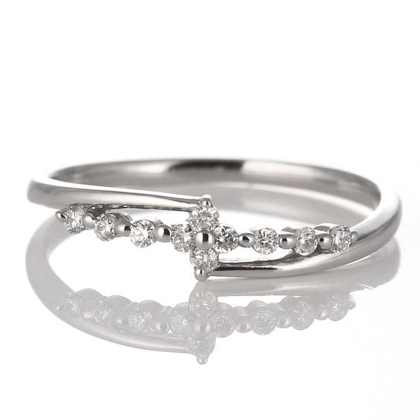スイート エタニティ ダイヤモンド 10 個 ダイヤモンド リング ダイヤモンドリング 指輪 プラチナ 結婚 10周年記念【DEAL】