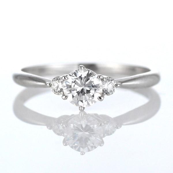 プラチナ ダイヤモンド リング 指輪 0.3カラット サイドダイヤモンド スリーストーン