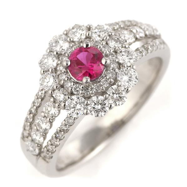 ルビー 指輪 大粒 ダイヤモンド おしゃれ プラチナ 指輪 レディース 宝石【今だけ代引手数料無料】