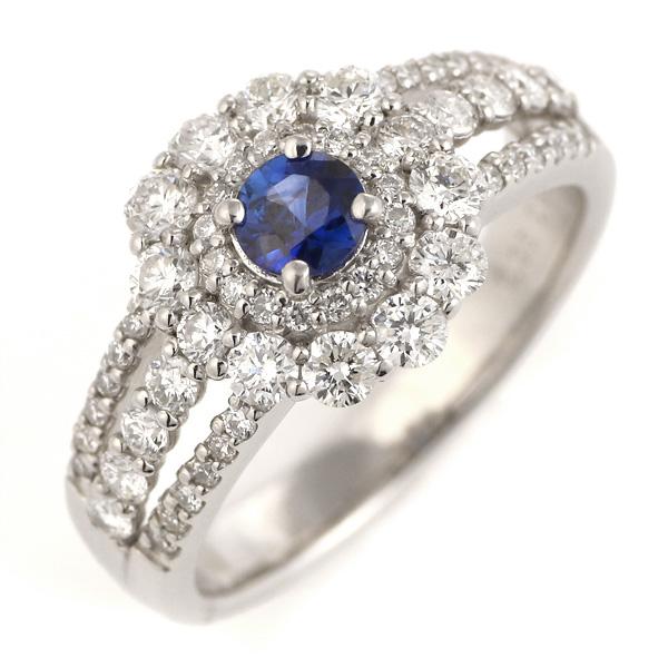 サファイア 指輪 大粒 ダイヤモンド おしゃれ プラチナ 指輪 レディース 宝石【今だけ代引手数料無料】