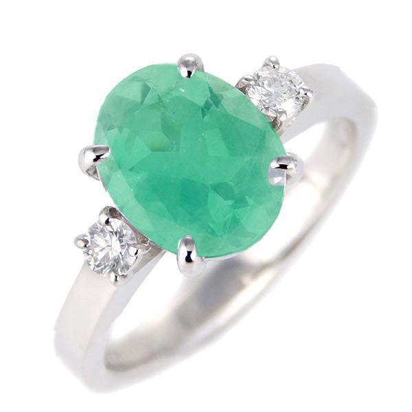 エメラルド ダイヤモンド リング レディース プラチナ 5月 誕生石 指輪