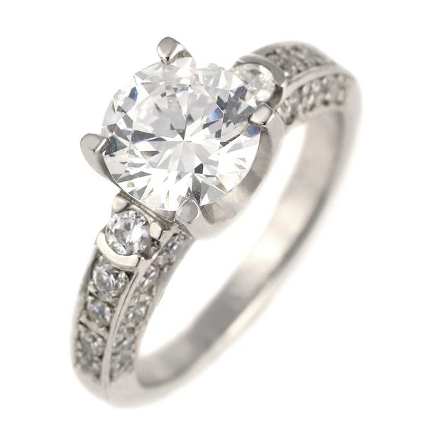 2カラット ダイヤモンド リング 指輪 プラチナ900 大粒 ダイヤ パヴェダイヤ 2ct 結婚記念日 退職記念 ギフト プレゼント 末広 スーパーSALE