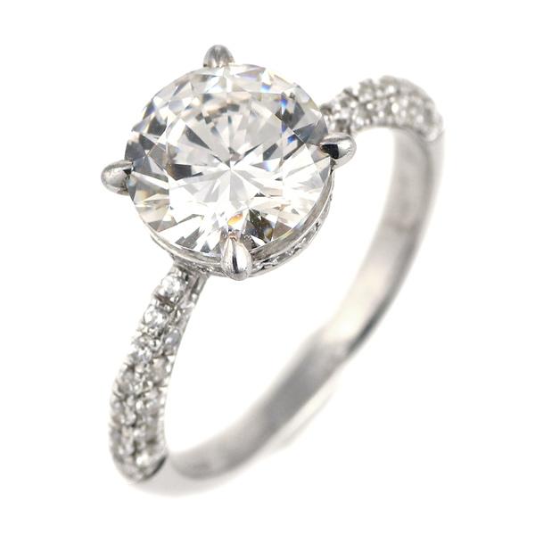 2カラット ダイヤモンド リング 2ct 指輪 プラチナ900 大粒 ダイヤ 一粒 結婚記念日 退職記念 ギフト プレゼント