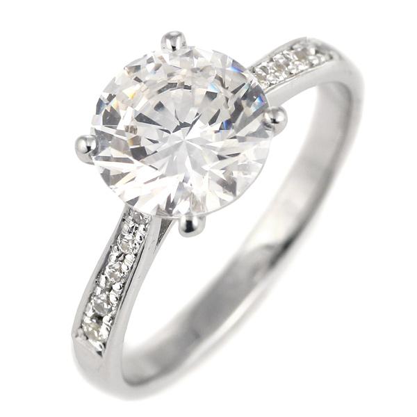 2カラット ダイヤモンド リング 2ct 指輪 プラチナ900 大粒 ダイヤ ソリティア 結婚記念日 退職記念 ギフト プレゼント 末広 スーパーSALE