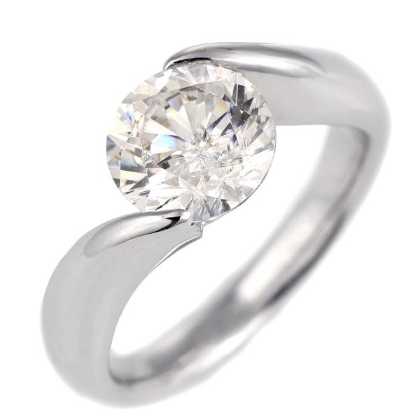 2カラット ダイヤモンド リング 指輪 プラチナ900 大粒 ダイヤ ソリティア 結婚記念日 退職記念 ギフト プレゼント