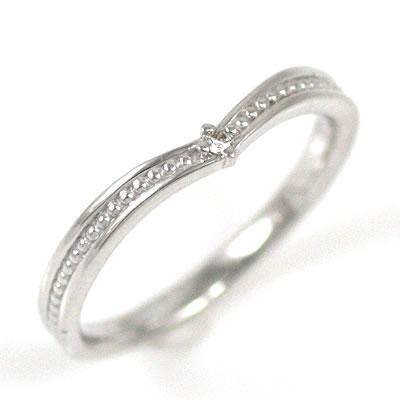 ( Brand Jewelry me. ) K18ホワイトゴールドダイヤモンドピンキーリング【DEAL】