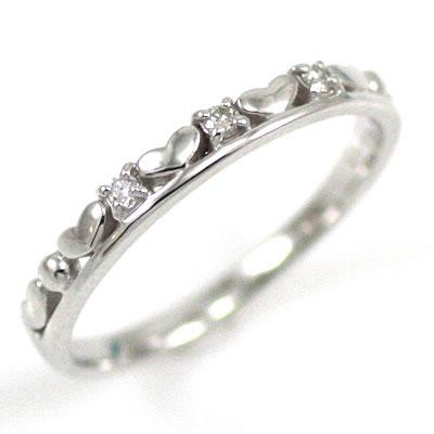 ( Brand Jewelry me. ) K18ホワイトゴールドダイヤモンドピンキーリング