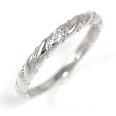 K18ホワイトゴールドダイヤモンドリング【DEAL】