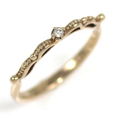 ( Brand Jewelry me. ) K18ピンクゴールドダイヤモンドピンキーリング 【DEAL】