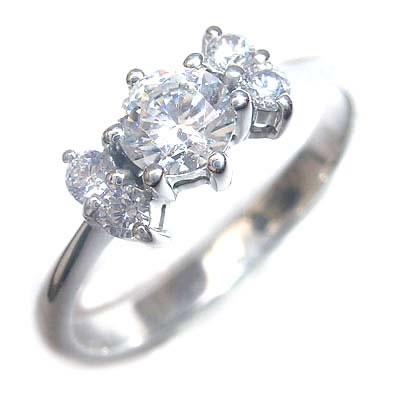 婚約指輪 ダイヤモンド プラチナエンゲージリング( 4月誕生石 ) 【DEAL】