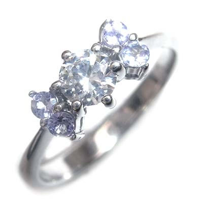 ( 婚約指輪 ) ダイヤモンド プラチナエンゲージリング( 12月誕生石 ) タンザナイト 【DEAL】