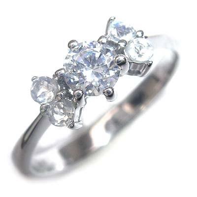 ( 婚約指輪 ) ダイヤモンド プラチナエンゲージリング( 6月誕生石 ) ムーンストーン 【DEAL】