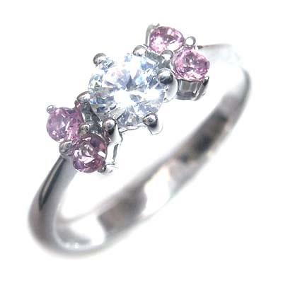 10月誕生石 ( 婚約指輪 ) ダイヤモンド プラチナエンゲージリングピンクトルマリン 【DEAL】