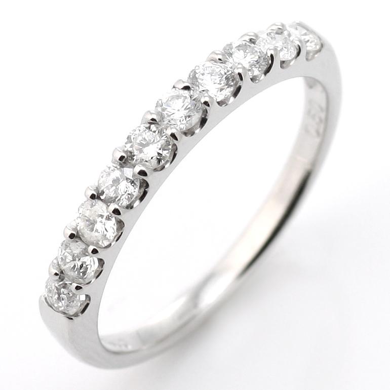ペアリング 結婚指輪 マリッジリング ダイヤモンド エタニティ リング 0.5カラット ハーフエタニティ