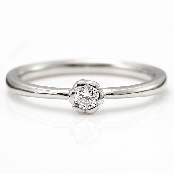 フラワー ダイヤモンド リング プラチナ ダイヤモンドリング 指輪 花びら【DEAL】